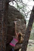 Rock Climbing Photo: Still working on advancing past this one move.