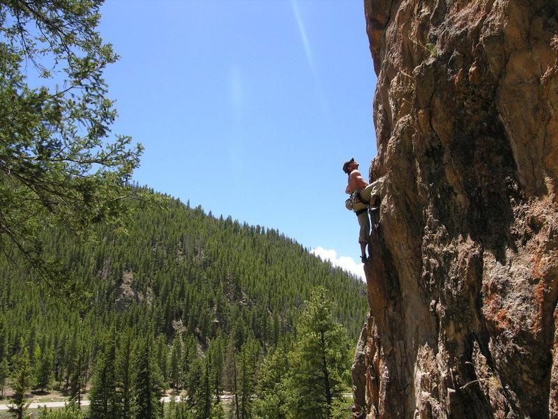 Shane Niedert up Taylor Canyon.