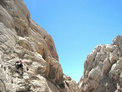 Rock Climbing Photo: Paul starting P1