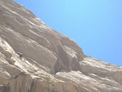 Rock Climbing Photo: Climbing onto belay ledge. The climb Rat in the Ha...