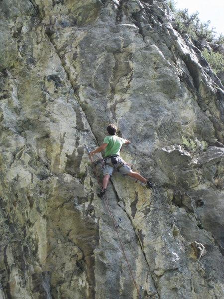 Rock Climbing Photo: Me on Forsaken. (Photo by Jon Bitter)