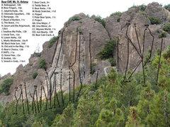 Rock Climbing Photo: Bear Cliff Topo