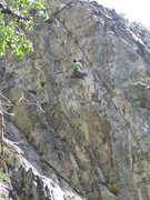 Rock Climbing Photo: Tristan in a neat rest position. He made a great a...