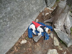 Gunner a Jack Russel Chillin at the Gunks on a cool fall day.