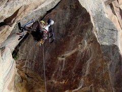 Rock Climbing Photo: The overhanging pitch 9 is the most fun I've ever ...