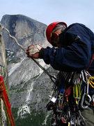 Rock Climbing Photo: Adam Sinner racking up at the base of P7 on 5/19/1...