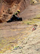 Rock Climbing Photo: Me on the crux pitch before the true flailing bega...