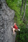 Rock Climbing Photo: this mantel is the last move and though not as har...