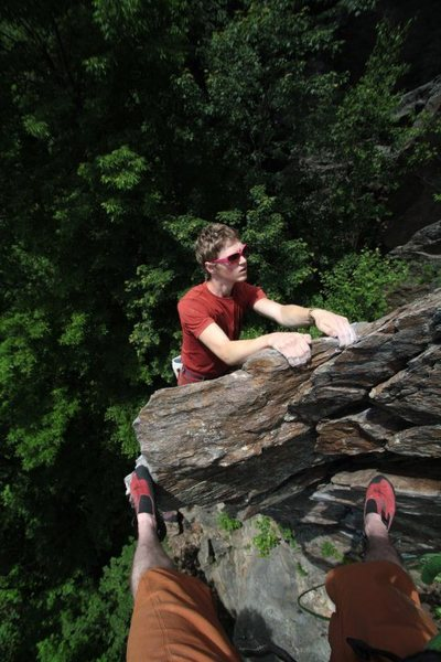 Rock Climbing Photo: just for fun... otey onsighting, and my feet makin...