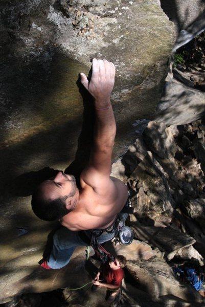 Rock Climbing Photo: jakob sending...