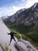 Rock Climbing Photo: Nico at the Fin base