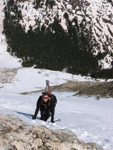 Skiing Torrey's Peak