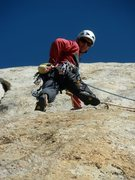 Rock Climbing Photo: Claudio's photo of me in the 2nd pitch