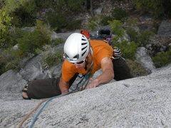Rock Climbing Photo: Claudio working through the crux