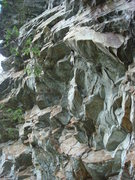 Rock Climbing Photo: The upper parts of DWTD Project, 8th Sin, Dark Ang...