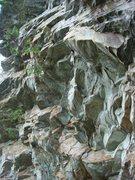 Rock Climbing Photo: The bolt line of Dark Angel (except first bolt)