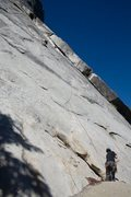 Rock Climbing Photo: Cory nearing the third and final piece of protecti...