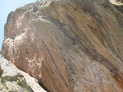 Rock Climbing Photo: Paul on the first (barefoot) ascent, having led th...