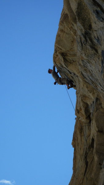 Rock Climbing Photo: Pulling the bulge on Flame thrower