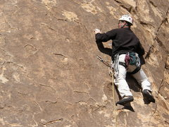 Rock Climbing Photo: Tim Pinar on George's Route.