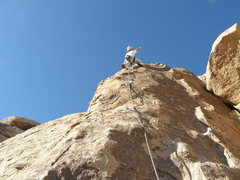 Rock Climbing Photo: Tim Pinar on Cross Roads finish to George's Route.