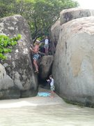 Rock Climbing Photo: The boys enjoy some VG beach bouldering at Little ...