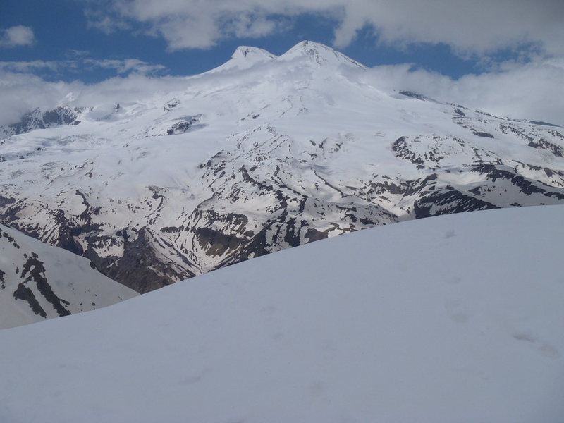 Mt Elbrus from Cheget Peak