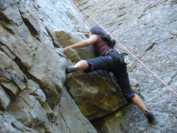 Rock Climbing Photo: Climbing Chambered Nautilus