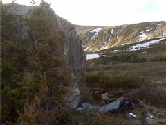 Rock Climbing Photo: As you approach Loch Lomond, you will pass this bo...