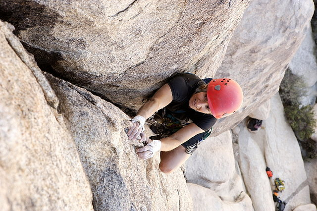 Rock Climbing Photo: Lisa Pritchett leading the upper section of Nurn's...