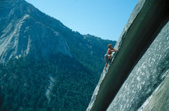 Rock Climbing Photo: Tony Moser leading Hairlip.