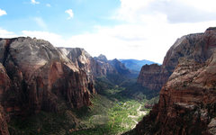 Rock Climbing Photo: Zion Canyon as viewed from Angel's Landing