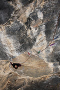 Rock Climbing Photo: Tracy Borland nears the crux on pitch one of Papar...