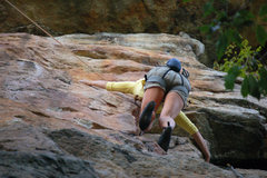 Rock Climbing Photo: The crux