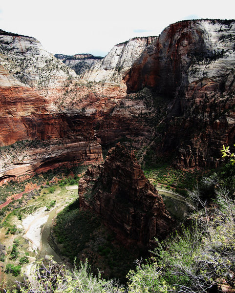 Rock Climbing Photo: The End of Zion Canyon viewed from Angel's Landing