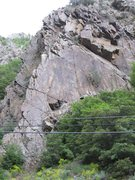 Rock Climbing Photo: View of The Diamond from across the road.