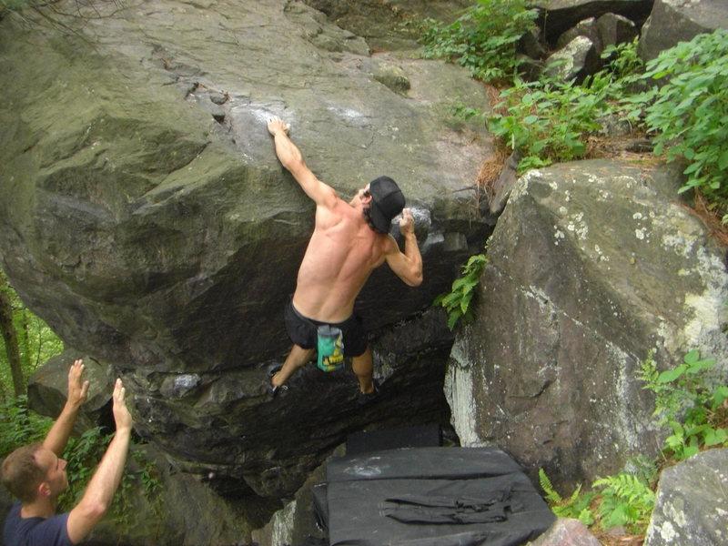 Rock Climbing Photo: The move over the lip.