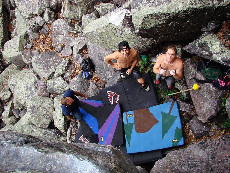 Rock Climbing Photo: Scheming...