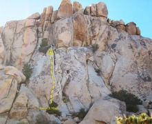 Rock Climbing Photo: Check out this photo...Where the 3 bushes are left...