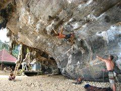 Rock Climbing Photo: Nice and steep, just the way we like it.