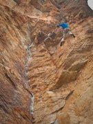 Mike Hillan on Orestes, Mount Arapiles.