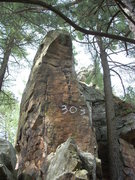 "Rock Climbing Photo: South face of ""Mr Canoehead""."