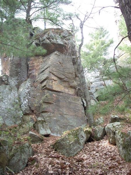"Rock Climbing Photo: Tall highball just around the corner from ""30..."