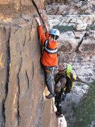 Rock Climbing Photo: 8 year old Todd Wolfe climbing Chasing shadows fin...
