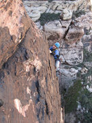Rock Climbing Photo: The top of the final section of chasing shadows