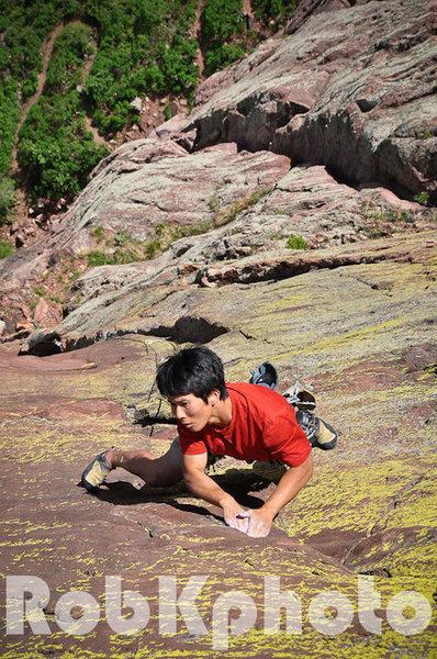 Rock Climbing Photo: Shumin Wu on Lene's Dream 5.11c