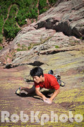 Rock Climbing Photo: Shumin Wu on Lene's Dream 5.11c