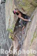 Rock Climbing Photo: Nick Chan coming out of the bombay chimney on the ...