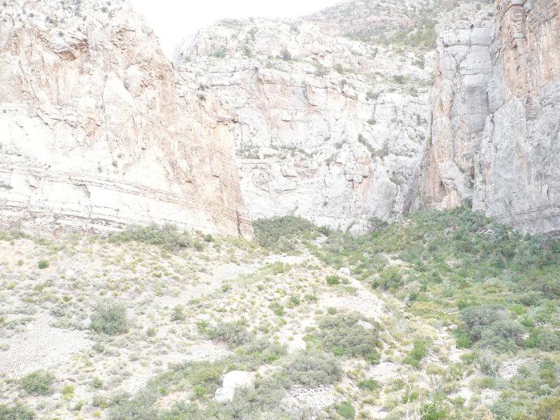 Rock Climbing Photo: Grail Wall on left