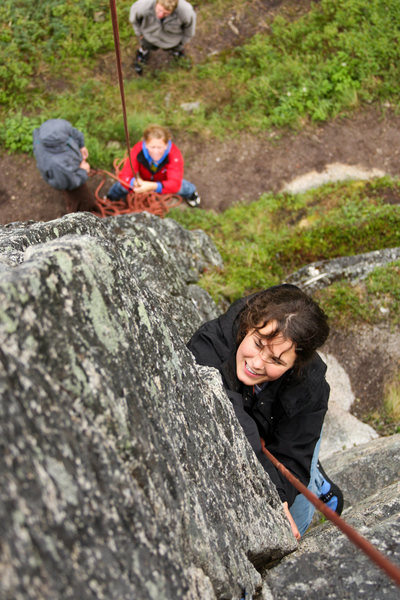 Rock Climbing Photo: The typical Hatcher Pass rain doesn't ruin any of ...